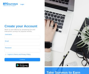 Earn bitcoin by completing surveys (up to $8 an hour)! :) Sign-up and automatically get $1