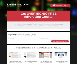 [Get OVER 500,000 FREE Advertising Credits] - Limited Time No Cost Offer