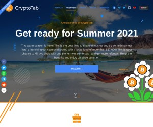 CRYPTOTAB ANNUAL SUMMER REFERRAL CONTEST: MORE THAN $17,000 DOLLAR PRIZES! FREE!