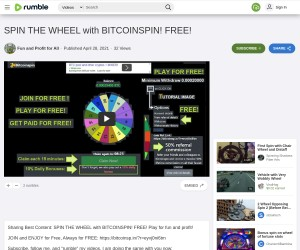 SPIN THE WHEEL with BITCOINSPIN! FREE!