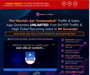 "The World's 1st ""Automated"" Traffic & Sales  App"