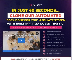 """100% DONE FOR YOU"" AFFILIATE SYSTEM WITH BUILT-IN *FREE* BUYER TRAFFIC!"