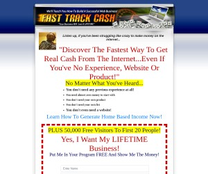 FAST TRACK CASH: Here's The Fastest Way To Get Real Cash From The Internet