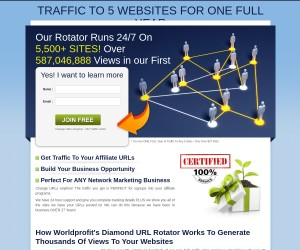 Traffic To 5 Sites For ONE Full Year with NO Limits