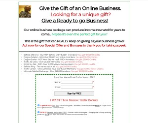 Give the Gift of an Online Business  Massive Traffic Package Included
