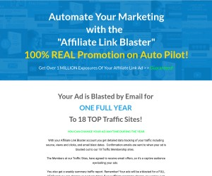 [ Affiliate Link Blaster ] Over 1 MILLION Exposures Of Your Affiliate Link Ad >> Guaranteed!