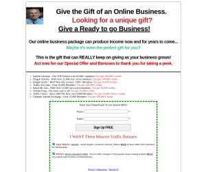 Install YOUR business on this very PROFITABLE SITE! You can in fact KEEP IT FOR LIFE!