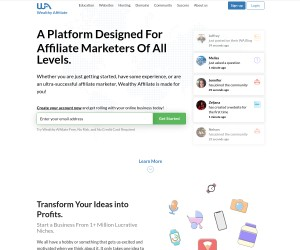 Wealthy Affiliate A Platform Designed For Affiliate Marketers Of All Levels