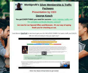 Worldprofit's Silver Membership & Traffic Packages Presentation by CEO George Kosch