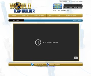 Share your World Team Builder website with family, friends