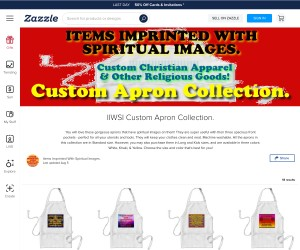 Custom Aprons With Spiritual Images!