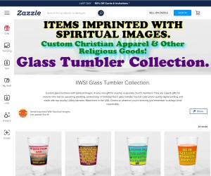 Custom Glass Tumblers With Spiritual Images!