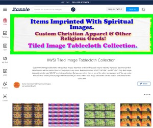 Custom Spiritual Tiled Image Tablecloths!