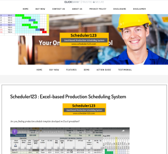 Scheduler123 : Excel-based Production Scheduling System