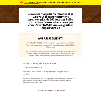 Cb s #1 Paleo Offer (paleohacks) Now In French !!