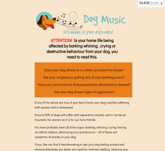 Music Designed For Dogs To Help With Anxiety Problems, 75% Commission