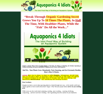 Aquaponics 4 Idiots ~ 7.14% Conversions: Proof In Affiliate Area