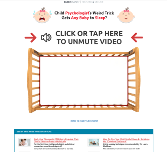 Baby Sleep Miracle - Animated Vsl - 6 Upsells - 75% On All