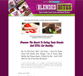 The Blended Bites Healthy Snack And Dessert Recipe Collection