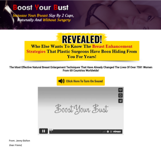 Natural Breast Enlargement - Boost Your Bust - 75% & $4.29 Epc s