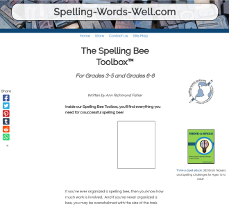 The Spelling Bee Toolbox Tm