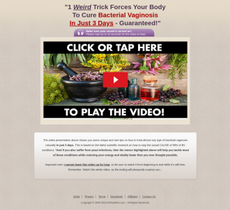 Bv No More (tm)~ Top Converting Bacterial Vaginosis Offer On Cb!