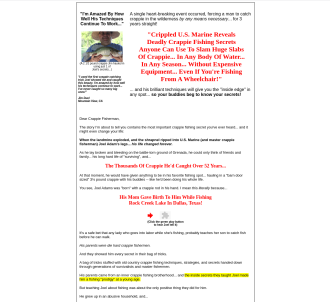 The Instant Crappie Catching Tricks E-kit 75% Commissions