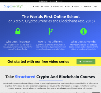 Cryptoversity - Bitcoin Cryptocurrency & Blockchain Courses