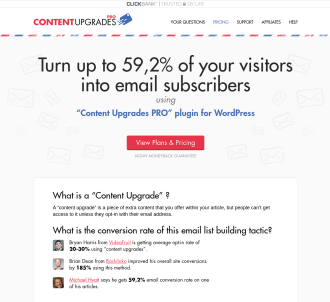 Content Upgrades Pro: Turn Your Readers Into Email Subscribers