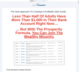 The Prosperity Formula - How To Start A Profitable Online Business
