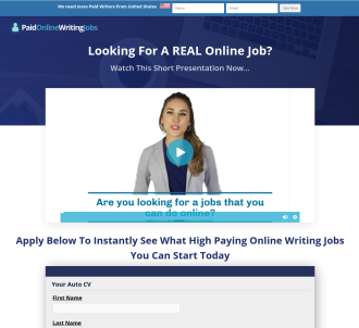 Stop! Paid Online Writing Jobs - New Killer Affiliate Dashboard
