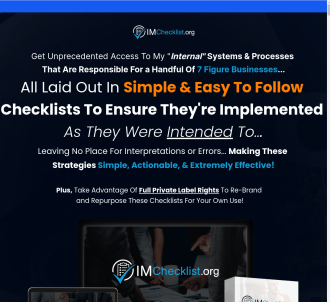 IM Checklist - Online Marketing Checklists With PLR