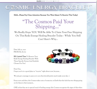 Free Reiki Energy Bracelet Offer