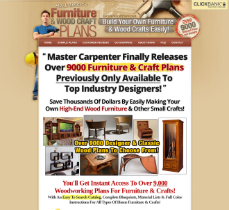 Furniture Craft Plans - Get $78.90 Per Sale - Highest Comms!