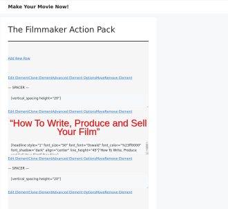 Filmmaker Action Pack - Filmmaker Training System