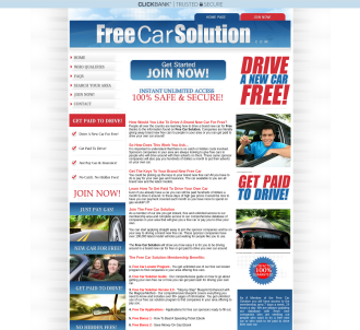 Freecarsolution.com - Get Paid To Drive