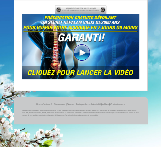 French Sciatica Sos - Sciatique Sos (tm) + $50 Bonus, Just Launched!