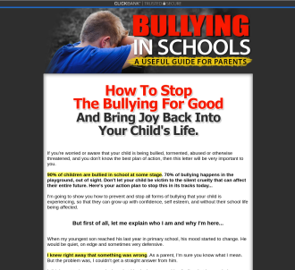 Bullying In Schools! - A Useful Guide For Parents