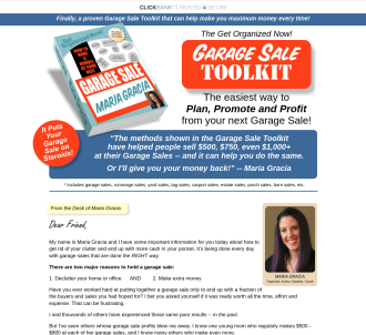 Get Organized Now! Garage Sale Toolkit