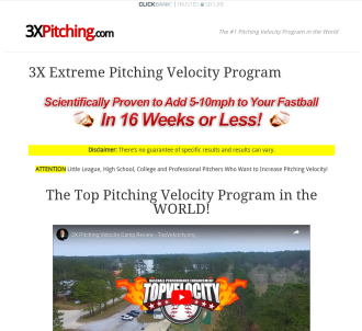 Increase Pitching Velocity - 3x Pitching