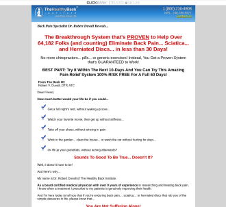 Lose The Back Pain System - 75% Commission