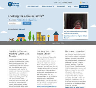 Housecarers.com Worldwide House Sitters And Pet Sitters Directory