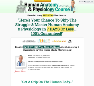 Updated! Human Anatomy & Physiology Course - $55.81 Per Sale!
