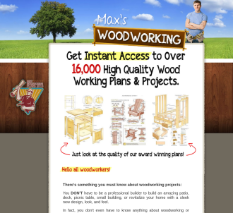 New - Maxs Woodworking 75% Commish Plus Upsells