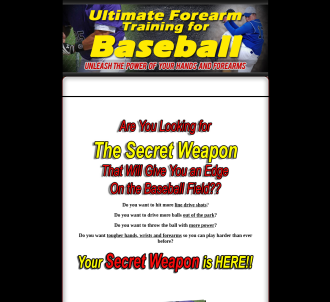 Ultimate Forearm Training For Baseball