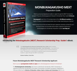 Monbukagakusho Research Scholarship Prep. Guide © Ebook