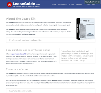Car Leasing Kit And Guide