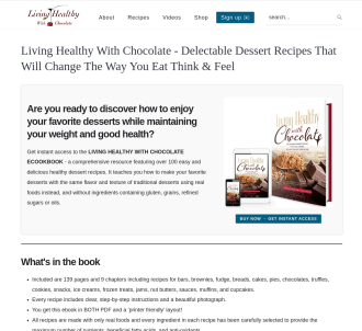 Living Healthy With Chocolate: Paleo/primal Dessert Cookbook