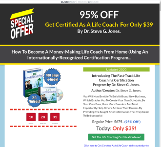 Life Coaching Certification - Huge Conversions!