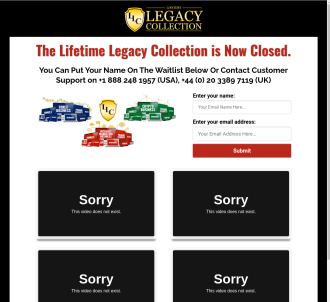 One Off Promo Opportunity: Lifetime Legacy Collection - Tiz Gambacorta